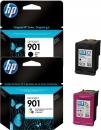 Original HP Patronen 901 Black + 901 Color Multipack