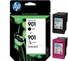 Original HP Druckerpatrone Set 901 Black + 901 Color