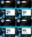 4x Original HP Patronen 903 im Set Mehrfarbig