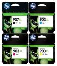 Original HP Patronen 907XL 903XL im Set Mehrfarbig