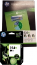 Original HP Patronen 934 XL + Nr. 935 XL F6U78AE Set