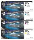 4x Original HP Patronen 973X im Set Mehrfarbig