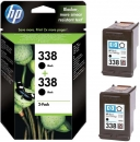 Original HP 338 Doppelpack Tintenpatronen CB331EE
