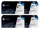Set Original Toner 308A+309A HP Q2670A+Q2671A+Q2672A+Q2673A