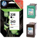 Original HP Patronen 338 343 SD449EE Multipack