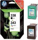 Original HP Patronen 338 343 SD449EE Multipack