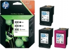 SD518AE original HP Druckerpatronen 2x 300 Black 1x 300 Color