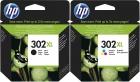 Original HP Patronen 302XL F6U67AE F6U68AE Set Mehrfarbig