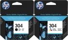 Original HP Patronen 304 N9K06AE N9K05AE Mehrfarbig Set