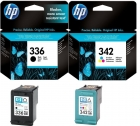 Original HP Patronen 336 + 342 Multipack