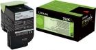 Original Lexmark Toner 702K 70C20K0 Schwarz
