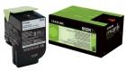 Original Lexmark Toner 802K 80C20K0 Schwarz