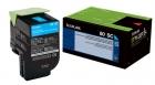 Original Lexmark Toner 802SC 80C2SC0 Cyan