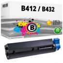 Alternativ OKI Toner B412 B432 / 45807102 Schwarz