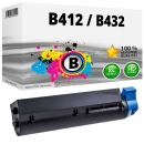 XL Alternativ OKI Toner B412 B432 / 45807106 Schwarz
