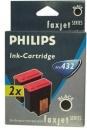 Original Philips Patronen 2x PFA-432 Schwarz