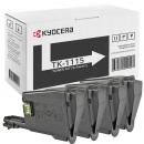 4x Original Kyocera Toner TK-1115 Schwarz Set