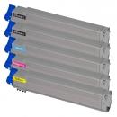 Alternativ OKI Toner C9600 C9650 C9800 C9850 5er Sparset