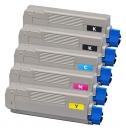 Alternativ OKI Toner C5550 C5800 C5900 5er Sparset