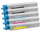 Alternativ OKI Toner C3300 C3400 C3450 C3600 5er Sparset