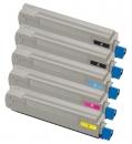 Alternativ Toner OKI C8600 C8800 5er Sparset