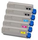 Alternativ OKI Toner C5650 C5750 5er Sparset