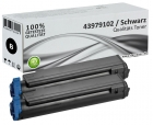 Set 2x Alternativ OKI Toner 43979102 Schwarz
