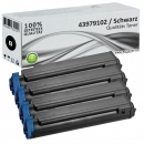 Set 4x Alternativ OKI Toner 43979102 Schwarz