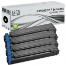 Set 4x Alternativ OKI Toner 43979202 Schwarz
