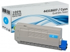 Alternativ OKI Toner 44318607 Cyan