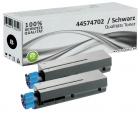 Set 2x Alternativ OKI Toner 44574702 Schwarz