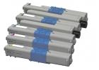 Alternativ OKI Toner C301 C321 MC332 C342 5er Sparset