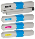 Alternativ OKI Toner 44973512 44973511 44973510 44973509 Sparset