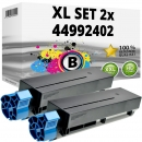 Set 2x Alternativ OKI Toner B401 44992402 Schwarz