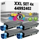 Set 4x Alternativ OKI Toner B401 44992402 Schwarz