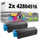 Alternativ OKI Toner C3100 42804516 Schwarz Doppelpack