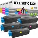 Set 5x Alternativ OKI Toner C3200 Mehrfarbig