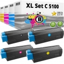 Set Alternativ OKI Toner C5100 C5200 C5300 C5400