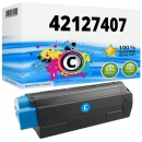 Alternativ OKI Toner C5100 C5200 C5300 C5400 Cyan