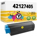 Alternativ OKI Toner C5100 C5200 C5300 C5400 Gelb