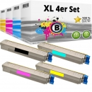 Set 4x Alternativ Oki Toner 44643001 44643002 44643003 44643004