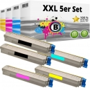 Set 5x Alternativ Oki Toner 44643001 44643002 44643003 44643004