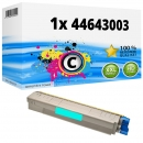 Alternativ OKI Toner 44643003 Cyan