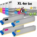 Set 4x Alternativ Oki Toner 44059168 44059167 44059166 44059165