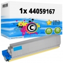 Alternativ Oki Toner 44059167 Cyan