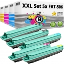 Alternativ Panasonic Toner KX-FAT 506 507 508 509 5er Set