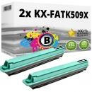 2x Alternativ Panasonic Toner KX-FATK509X Schwarz
