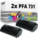 Set 2x Alternativ Philips Toner PFA-731 906115313001 Schwarz