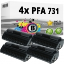 Set 4x Alternativ Philips Toner PFA-731 906115313001 Schwarz