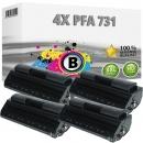 Set 4x Alternativ Philips Toner PFA-731 906115313001 Schwarz